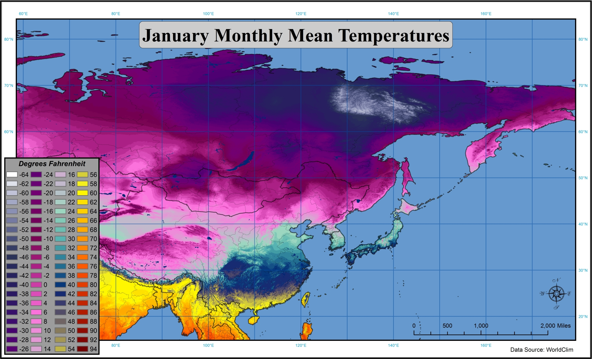Southeast Asia Weather Map.Just How Much Colder Is Siberia Climate Warm Average
